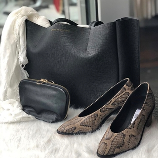 Sideways Tote / BLACK LUX
