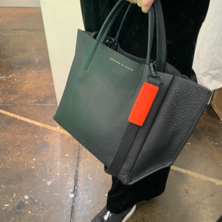 Cross-Body Half Tote / NEON ORANGE