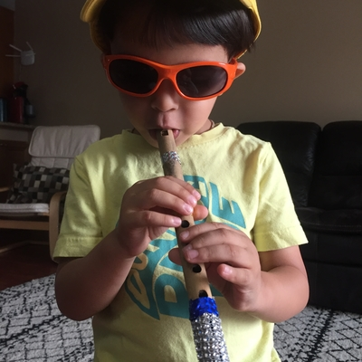 Music fun with a flute- Spy Reyansh loves Mr David's class