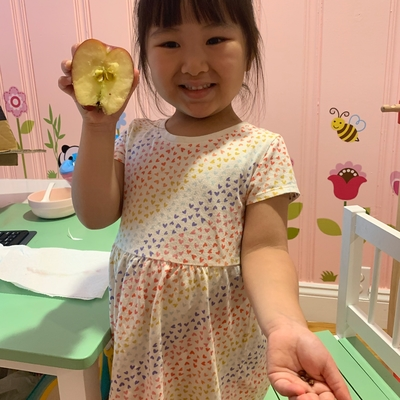 Averie is excited to regrow apples!