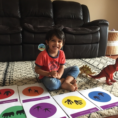 REYANSH MATHUR having fun in Dino game class