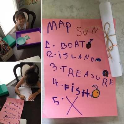 Cassidy made an ancient treasure map
