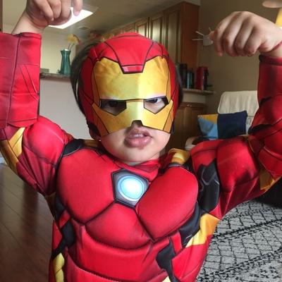 Reyansh loves becoming superhero 🦸‍♂️- Ironman