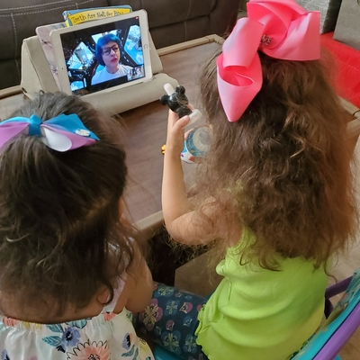 Whitney and her sister take a virtual field trip to the planetarium.