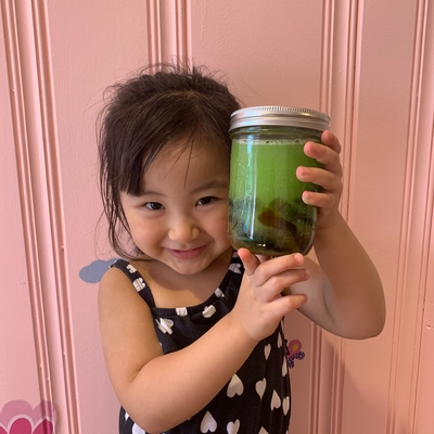 Averie and her magical gummy worms potion!
