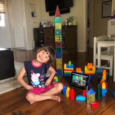 Sophia building a castle village