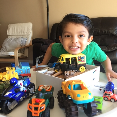 Reyansh ready with all his Vehicles 🚗