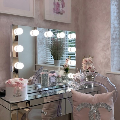 Whitney Audio Hollywood Mirror with LED Lights - 60 x 80cm