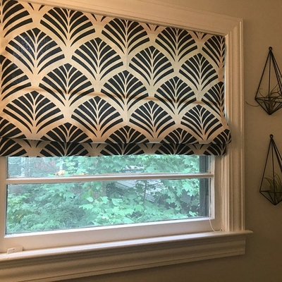 Quick Fix Washable Roman Window Shades Flat Fold, Ginkgo
