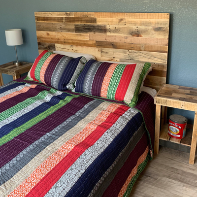 Reclaimed Wood Headboard