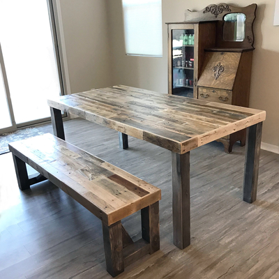 Reclaimed Wood Classic Farm Dining Table