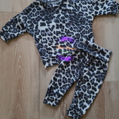 Snow Leopard French Terry Lounge Set
