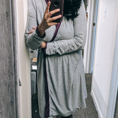 Cozy robe with grey modal