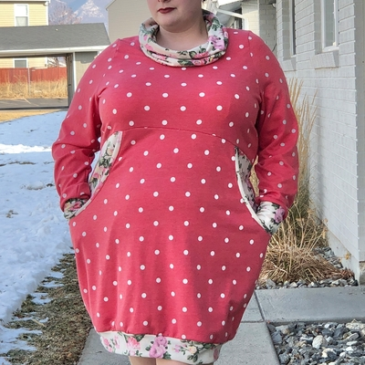 Adult Cuddle Tunic sewn in French Terry