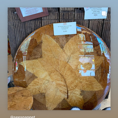 Tobacco Leaf Beautiful Round Table 1500