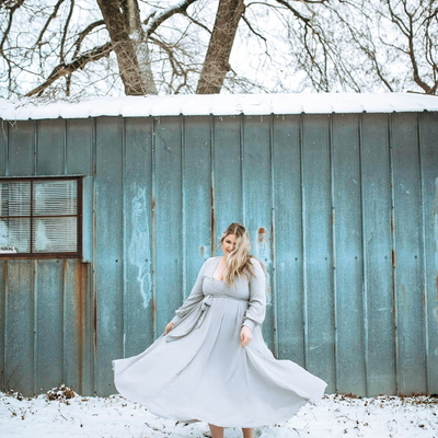 My #jsk dress in the snow